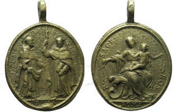 Recopilación medallas de Santo Domingo de Guzmán. Notas iconográficas. Doming12