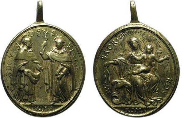 Recopilación medallas de Santo Domingo de Guzmán. Notas iconográficas. Doming13