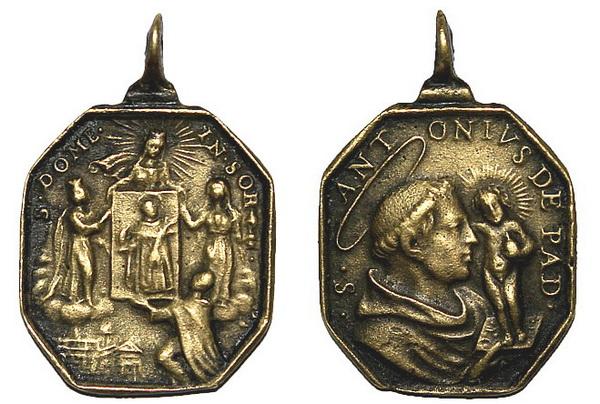 Recopilación medallas de Santo Domingo de Guzmán. Notas iconográficas. Doms0411