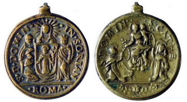 Recopilación medallas de Santo Domingo de Guzmán. Notas iconográficas. Doms4010
