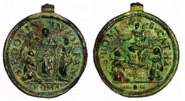 Recopilación medallas de Santo Domingo de Guzmán. Notas iconográficas. Doms4011