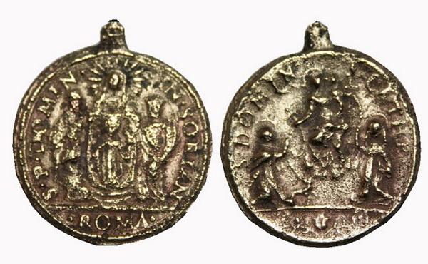 Recopilación medallas de Santo Domingo de Guzmán. Notas iconográficas. Doms4012