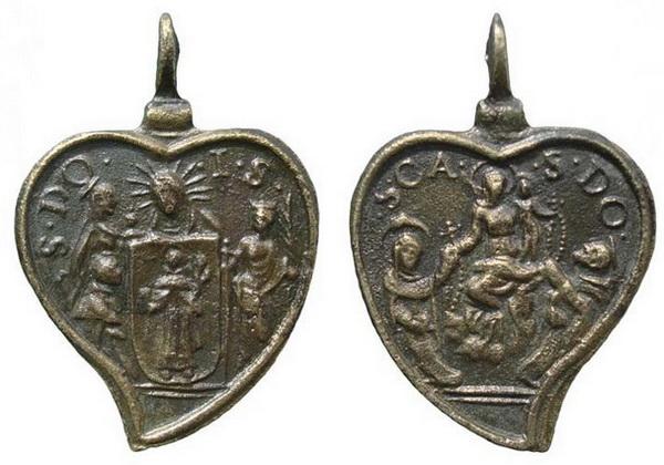 Recopilación medallas de Santo Domingo de Guzmán. Notas iconográficas. Doms4013