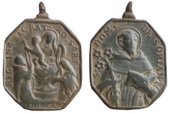 Recopilación medallas de Santo Domingo de Guzmán. Notas iconográficas. Erchem11