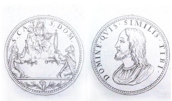 Recopilación medallas de Santo Domingo de Guzmán. Notas iconográficas. Filipp10