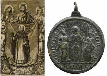 Recopilación medallas de Santo Domingo de Guzmán. Notas iconográficas. Fronti12