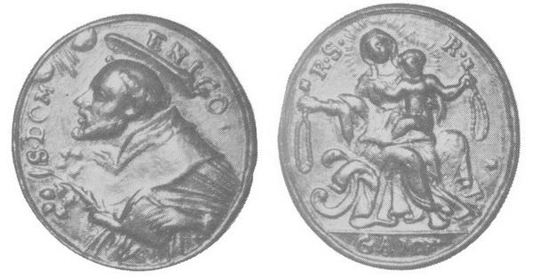 Recopilación medallas de Santo Domingo de Guzmán. Notas iconográficas. Gamv_p10