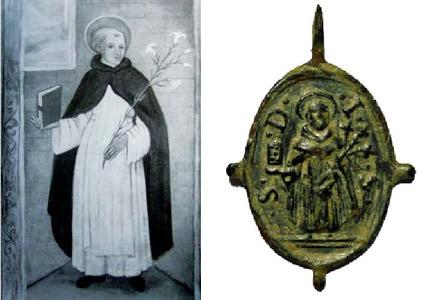 Recopilación medallas de Santo Domingo de Guzmán. Notas iconográficas. Imagen10
