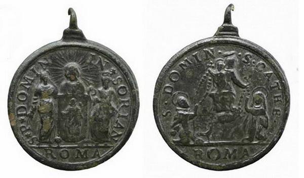 Recopilación medallas de Santo Domingo de Guzmán. Notas iconográficas. Insvla11