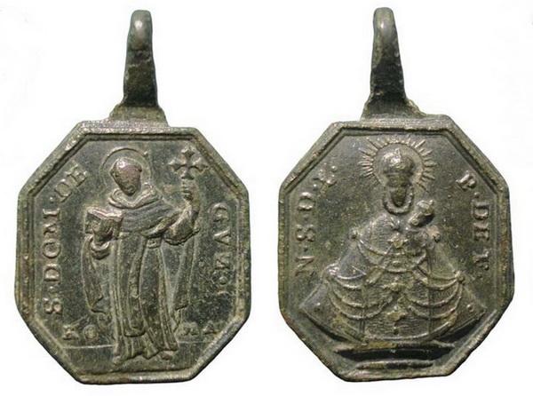 Recopilación medallas de Santo Domingo de Guzmán. Notas iconográficas. Insvla13
