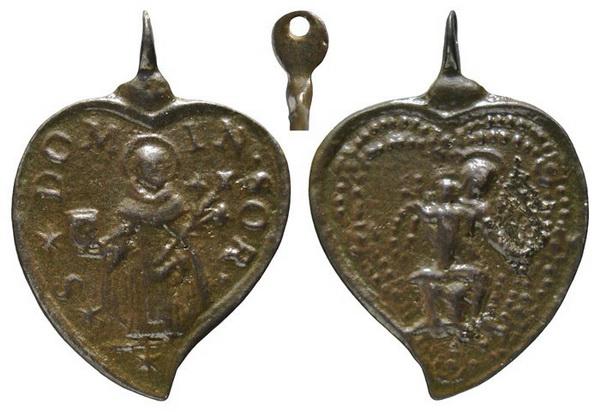 Recopilación medallas de Santo Domingo de Guzmán. Notas iconográficas. Insvla18