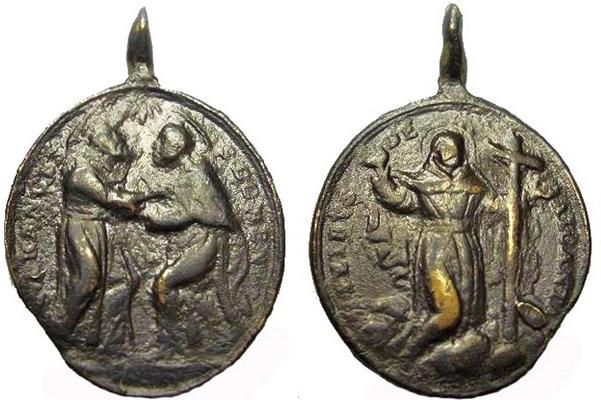 Recopilación medallas de Santo Domingo de Guzmán. Notas iconográficas. Italic13