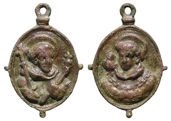 Recopilación medallas de Santo Domingo de Guzmán. Notas iconográficas. Mb01-d10