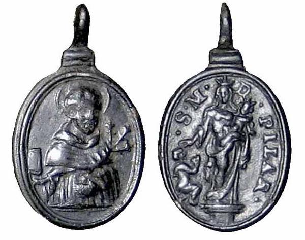 Recopilación medallas de Santo Domingo de Guzmán. Notas iconográficas. Mb04-a10