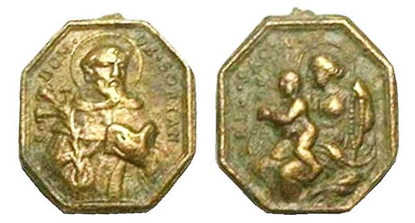 Recopilación medallas de Santo Domingo de Guzmán. Notas iconográficas. Mb07-c10