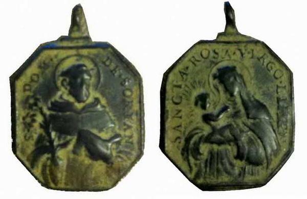 Recopilación medallas de Santo Domingo de Guzmán. Notas iconográficas. Mb07ba11