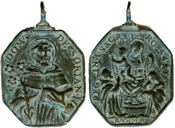 Recopilación medallas de Santo Domingo de Guzmán. Notas iconográficas. Mb08-p10