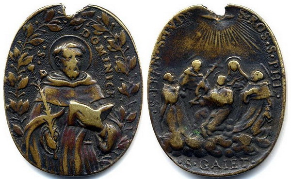 Recopilación medallas de Santo Domingo de Guzmán. Notas iconográficas. Mb09-p10
