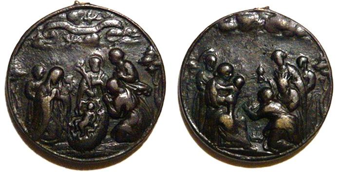 ICONOGRAFIA de la NATIVIDAD en las medallas devocionales Med_1610