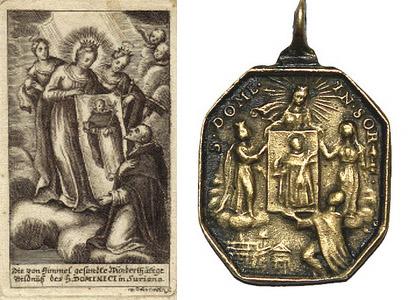Recopilación medallas de Santo Domingo de Guzmán. Notas iconográficas. Milagr10