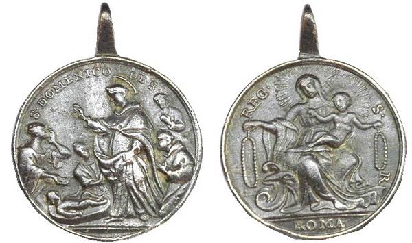 Recopilación medallas de Santo Domingo de Guzmán. Notas iconográficas. Milagr11