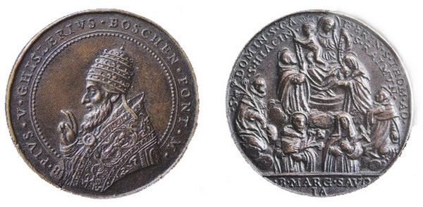 Recopilación medallas de Santo Domingo de Guzmán. Notas iconográficas. Modest11