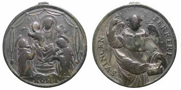 Recopilación medallas de Santo Domingo de Guzmán. Notas iconográficas. Mr22210