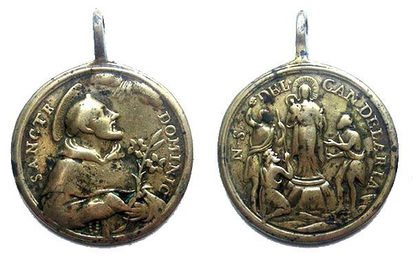 Recopilación medallas de Santo Domingo de Guzmán. Notas iconográficas. Ntra_s11
