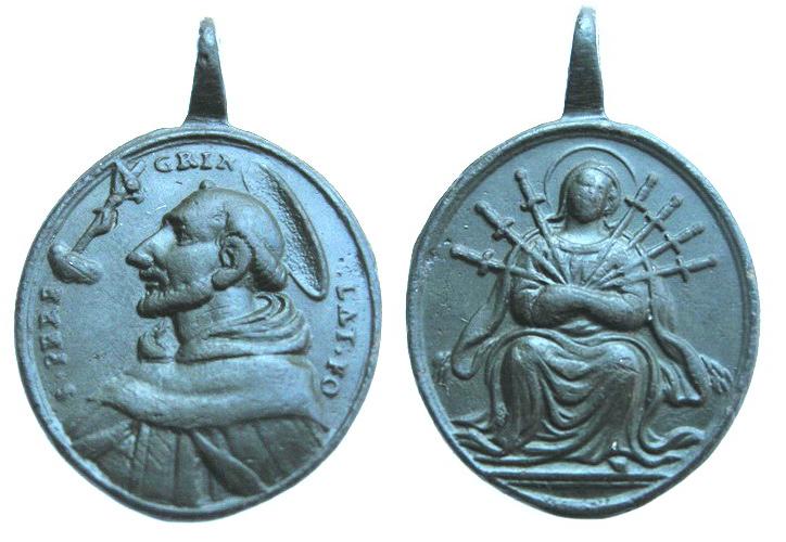 San Peregrino Laziosi / Dolorosa siete Espadas, s. XVIII Peregr11