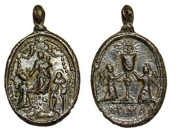 Recopilación medallas de Santo Domingo de Guzmán. Notas iconográficas. Pesc_111