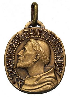 Recopilación medallas de Santo Domingo de Guzmán. Notas iconográficas. Pescud10