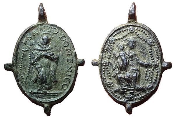 Recopilación medallas de Santo Domingo de Guzmán. Notas iconográficas. Pescud11