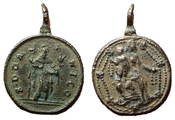 Recopilación medallas de Santo Domingo de Guzmán. Notas iconográficas. Pescud12