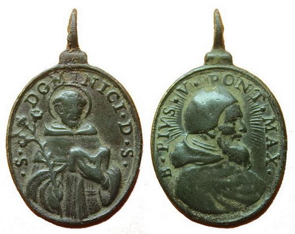 Recopilación medallas de Santo Domingo de Guzmán. Notas iconográficas. Pescud15