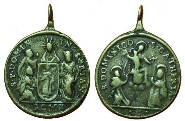 Recopilación medallas de Santo Domingo de Guzmán. Notas iconográficas. Pescud16