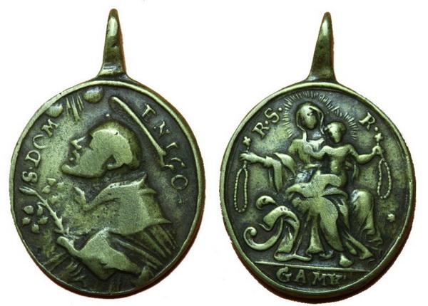 Recopilación medallas de Santo Domingo de Guzmán. Notas iconográficas. Pescud18