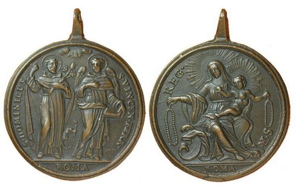 Recopilación medallas de Santo Domingo de Guzmán. Notas iconográficas. Pescud19