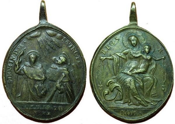 Recopilación medallas de Santo Domingo de Guzmán. Notas iconográficas. Pescud20