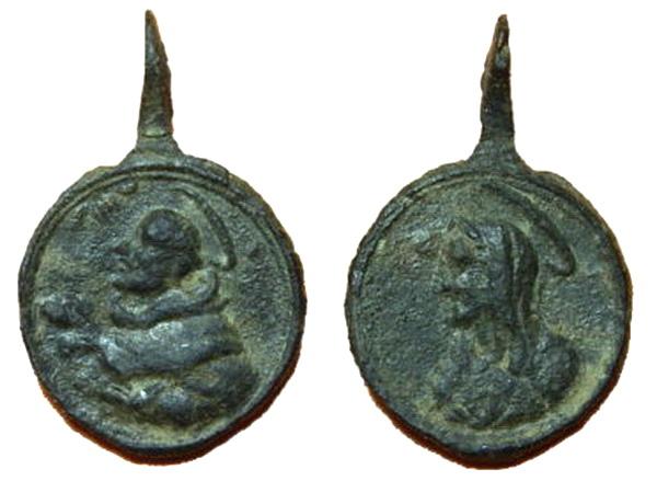 Recopilación medallas de Santo Domingo de Guzmán. Notas iconográficas. Pescud21