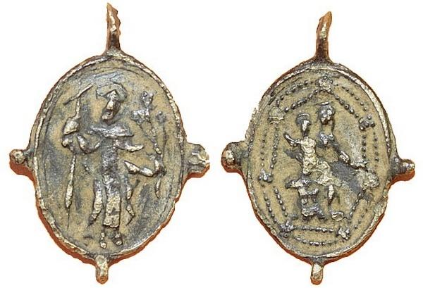 Recopilación medallas de Santo Domingo de Guzmán. Notas iconográficas. Pescud22