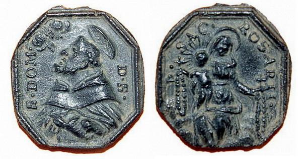Recopilación medallas de Santo Domingo de Guzmán. Notas iconográficas. Pescud24