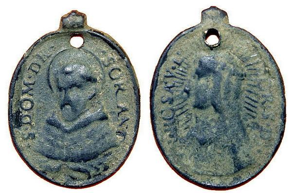 Recopilación medallas de Santo Domingo de Guzmán. Notas iconográficas. Pescud25