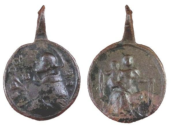 Recopilación medallas de Santo Domingo de Guzmán. Notas iconográficas. Pescud26