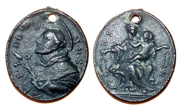 Recopilación medallas de Santo Domingo de Guzmán. Notas iconográficas. Pescud27