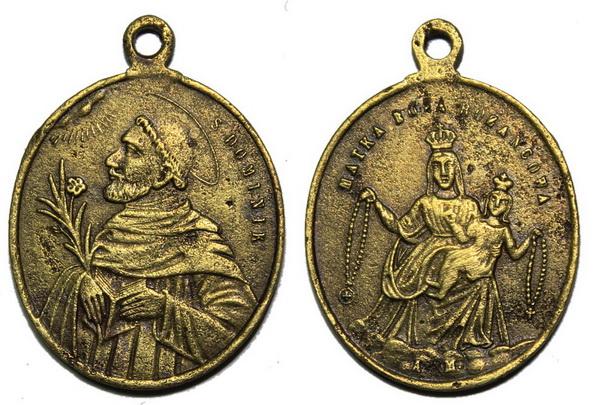 Recopilación medallas de Santo Domingo de Guzmán. Notas iconográficas. Pescud28