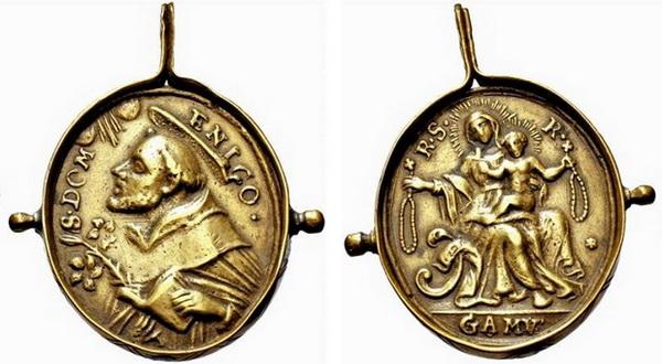 Recopilación medallas de Santo Domingo de Guzmán. Notas iconográficas. Pescud31