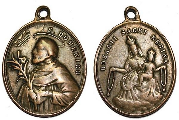 Recopilación medallas de Santo Domingo de Guzmán. Notas iconográficas. Pescud32