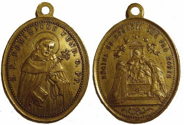 Recopilación medallas de Santo Domingo de Guzmán. Notas iconográficas. Pescud33