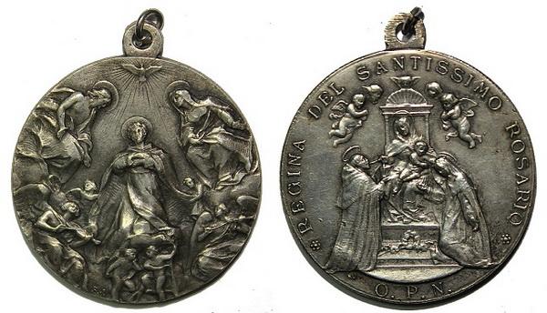Recopilación medallas de Santo Domingo de Guzmán. Notas iconográficas. Pescud35