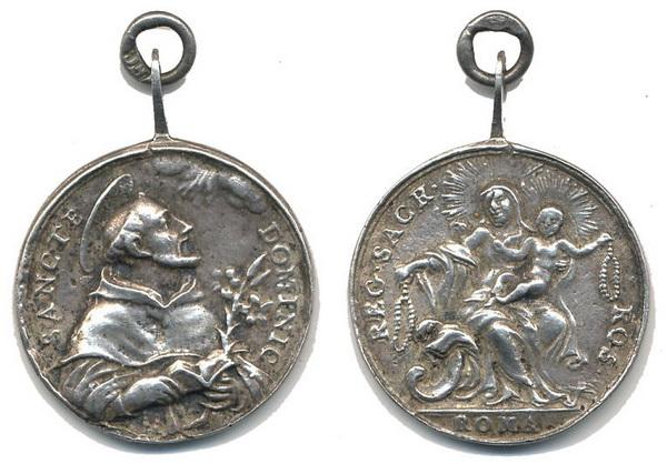 Recopilación medallas de Santo Domingo de Guzmán. Notas iconográficas. Pescud36